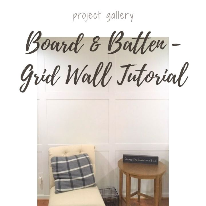 DIY Board & Batten – Grid Wall